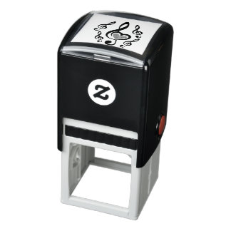 Illustration Clef Love Music Self-inking Stamp