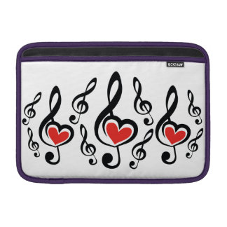 Illustration Clef Love Music Sleeves For MacBook Air