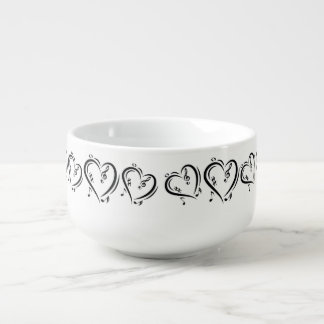 Illustration Clef Love Music Soup Bowl With Handle