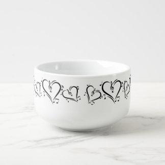 Illustration Clef Love Music Soup Mug