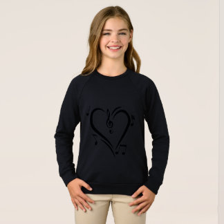 Illustration Clef Love Music Sweatshirt