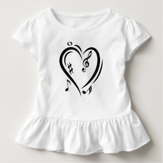 Illustration Clef Love Music Toddler T-shirt