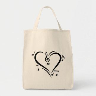 Illustration Clef Love Music Tote Bag