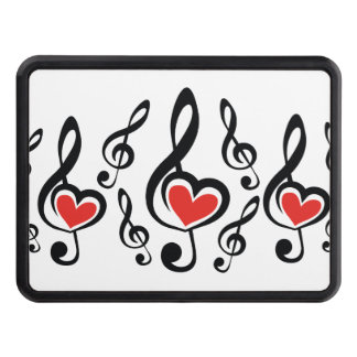 Illustration Clef Love Music Trailer Hitch Cover