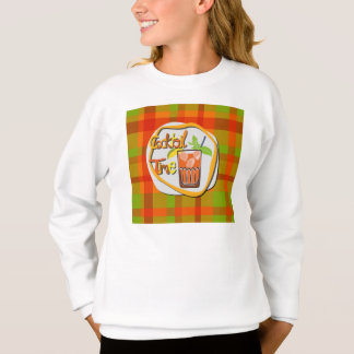 """Illustration Cocktail with fruit """"Cocktail Time"""" Sweatshirt"""