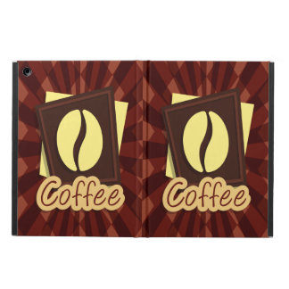 Illustration coffee bean iPad air cover