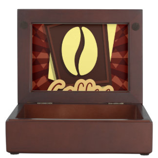 Illustration coffee bean keepsake boxes