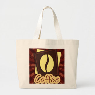 Illustration coffee bean large tote bag