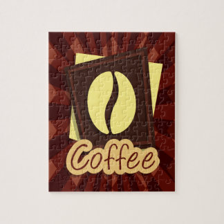 Illustration coffee bean puzzle