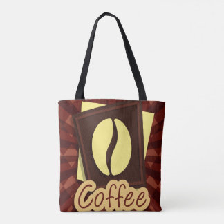 Illustration coffee bean tote bag
