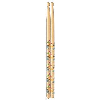 Illustration colorful wild drumsticks