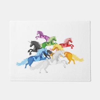 Illustration colorful wild Unic Doormat