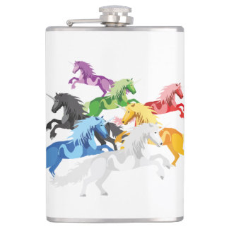 Illustration colorful wild Unic Flasks