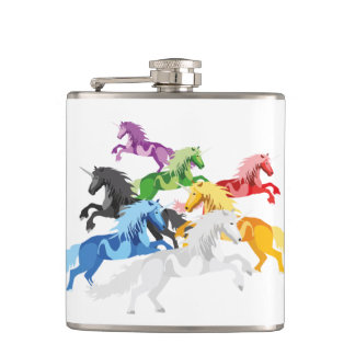 Illustration colorful wild Unic Hip Flask
