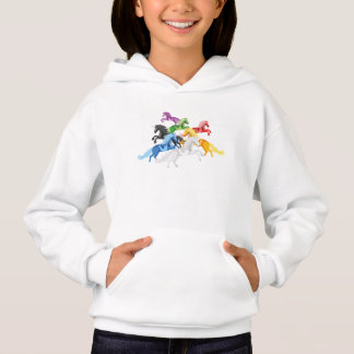 Illustration colorful wild Unicorns