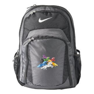 Illustration colorful wild Unicorns Backpack