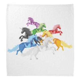 Illustration colorful wild Unicorns Bandana