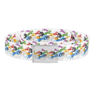 Illustration colorful wild Unicorns Belt