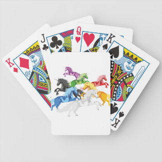 Illustration colorful wild Unicorns Bicycle Playing Cards