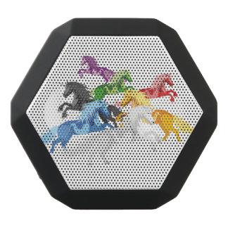 Illustration colorful wild Unicorns Black Bluetooth Speaker