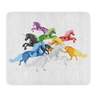 Illustration colorful wild Unicorns Boards