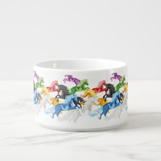 Illustration colorful wild Unicorns Bowl