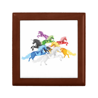 Illustration colorful wild Unicorns Gift Box