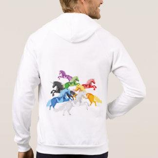 Illustration colorful wild Unicorns Hoodie