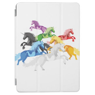 Illustration colorful wild Unicorns iPad Air Cover