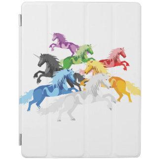 Illustration colorful wild Unicorns iPad Cover