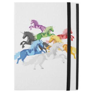 """Illustration colorful wild Unicorns iPad Pro 12.9"""" Case"""