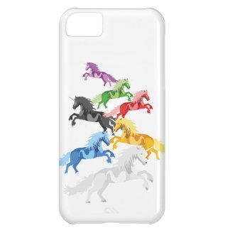 Illustration colorful wild Unicorns iPhone 5C Cover