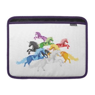 Illustration colorful wild Unicorns MacBook Sleeve