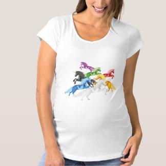 Illustration colorful wild Unicorns Maternity T-Shirt