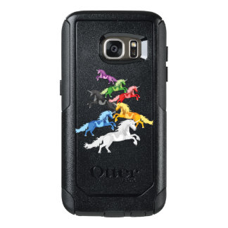 Illustration colorful wild Unicorns OtterBox Samsung Galaxy S7 Case