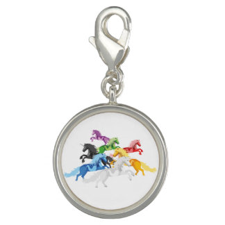 Illustration colorful wild Unicorns Photo Charm