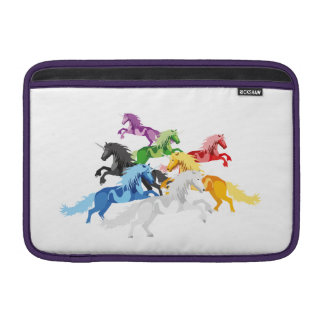 Illustration colorful wild Unicorns Sleeves For MacBook Air