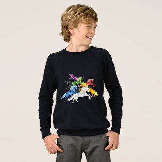 Illustration colorful wild Unicorns Sweatshirt