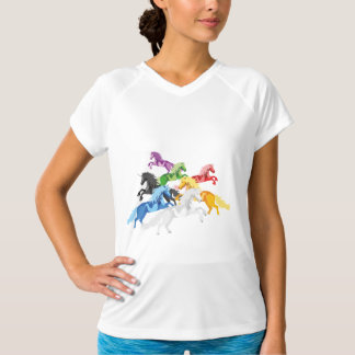 Illustration colorful wild Unicorns T-Shirt