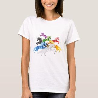 Illustration colorful wild Unicorns T-Shirt