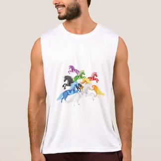 Illustration colorful wild Unicorns Tank Top