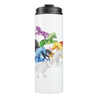 Illustration colorful wild Unicorns Thermal Tumbler