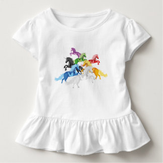 Illustration colorful wild Unicorns Toddler T-shirt