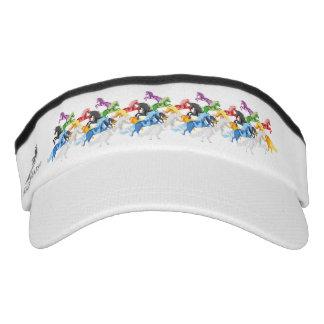 Illustration colorful wild Unicorns Visor