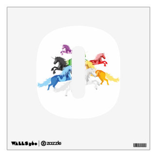 Illustration colorful wild Unicorns Wall Sticker