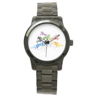 Illustration colorful wild Unicorns Watch