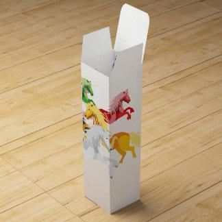 Illustration colorful wild Unicorns Wine Box