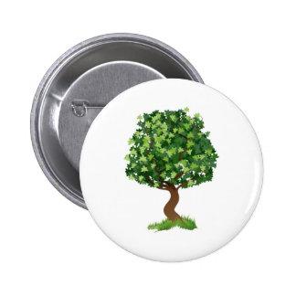 Illustration d arbre badge avec épingle