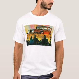 Illustration d'automobile d'art déco t-shirt