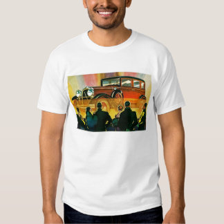 Illustration d'automobile d'art déco tee shirts